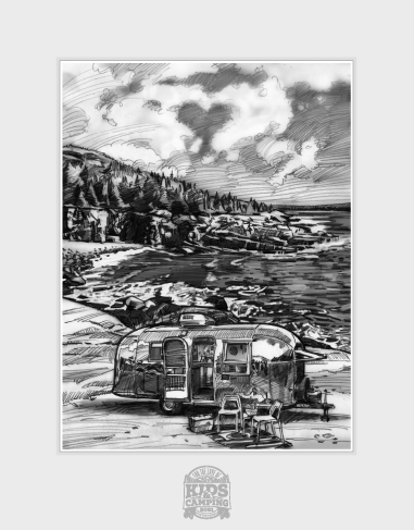 Sketch Inspired by Acadia National Park